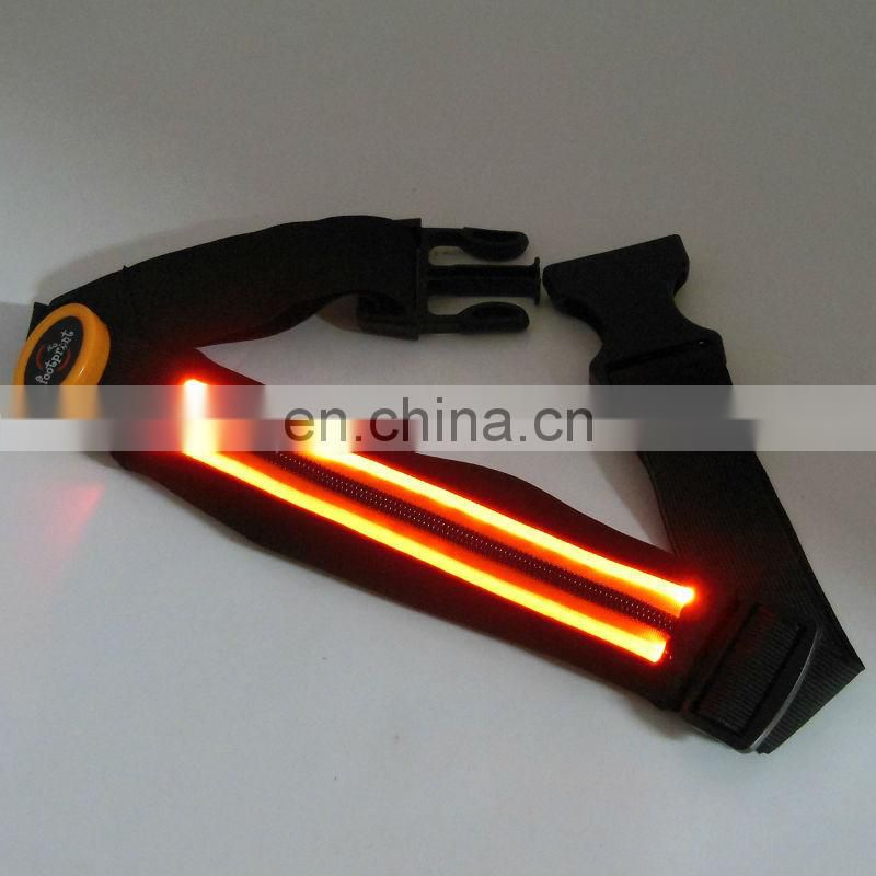 led belt super bright in the night Led waist belt for outdoor running LED sport belt with pouch