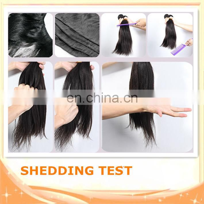 Quality 6A unprocessed human hair cheap halo hair extensions