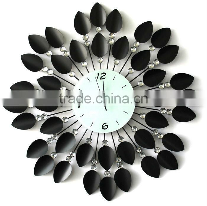 decorative mirror wall clock promotional