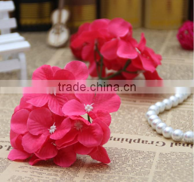 Silk artificial hydrangea flower heads fake flower for celebration