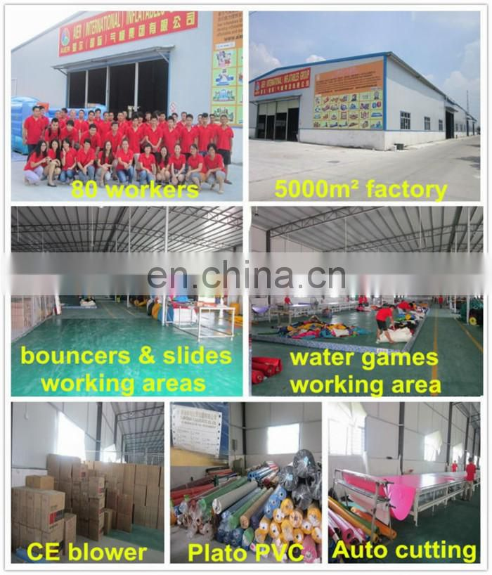 2016 AIER color inflatable courses/outdoor team building inflatable obstacle cousrse