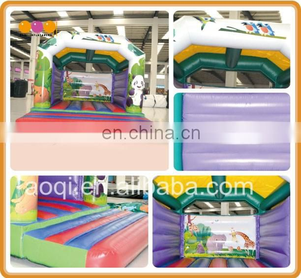 2016 new style animal world inflatable jumping house bouncer for sale