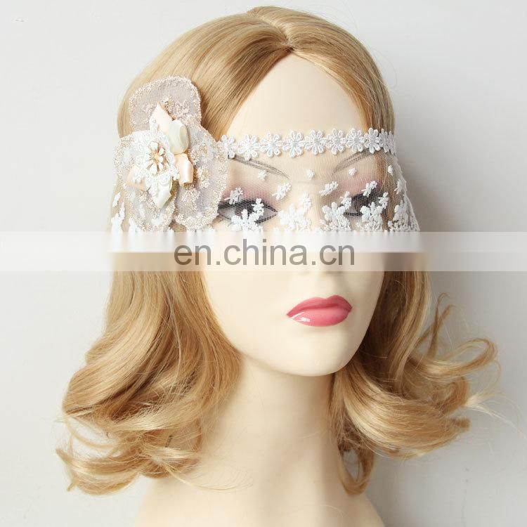 White Flower Sexy Leis Mask Women