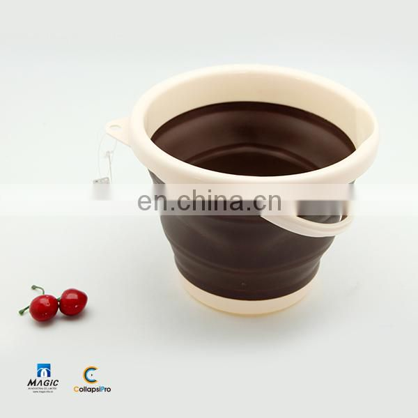 3L Round Collapsible Plastic Bucket