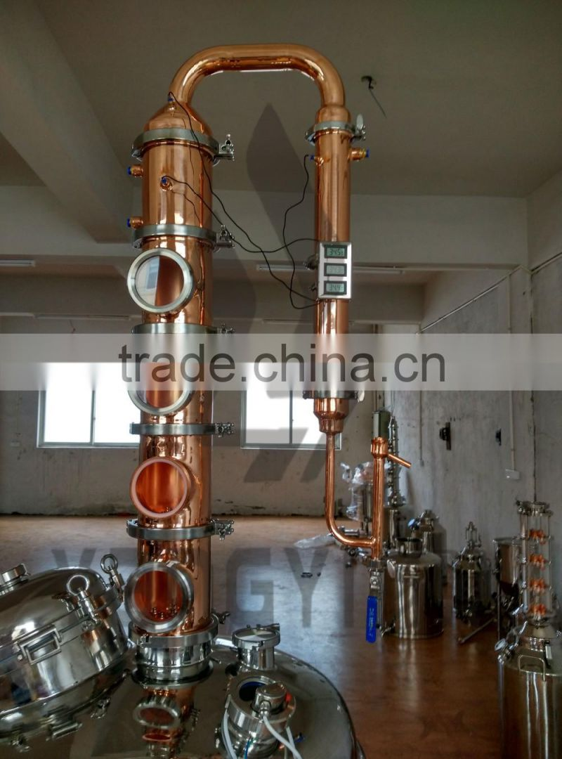 High quality copper commercial alcohol distillation column distiller