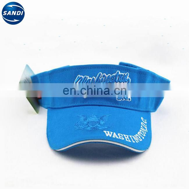 Promotional custom printed cotton truck sun visor