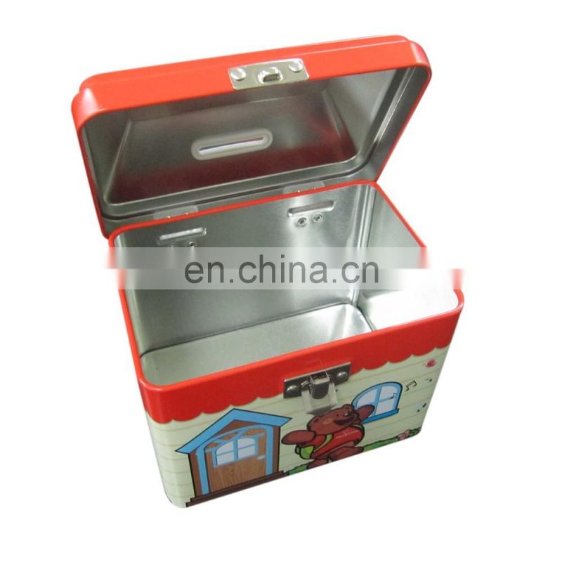 Irregular saving money tin box