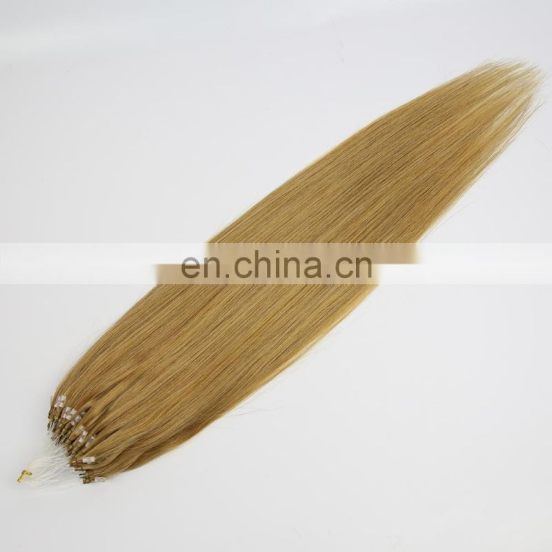 Youth Beauty Hair 2017 top quality 8A brazilian human hair micro ring hair in silky straight wholesale price