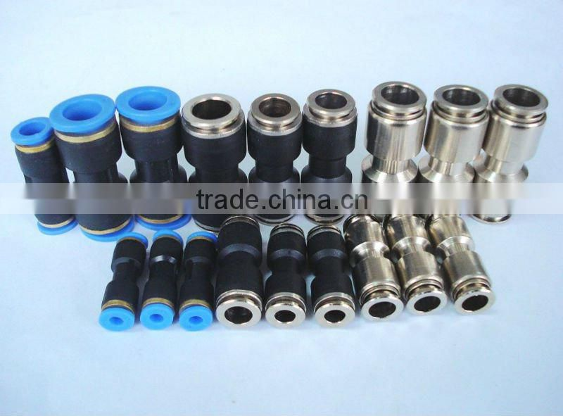 Truck trailer spare parts push-in fitting one touch fitting Plastic Union straight Pneumatic Pipe Fittings