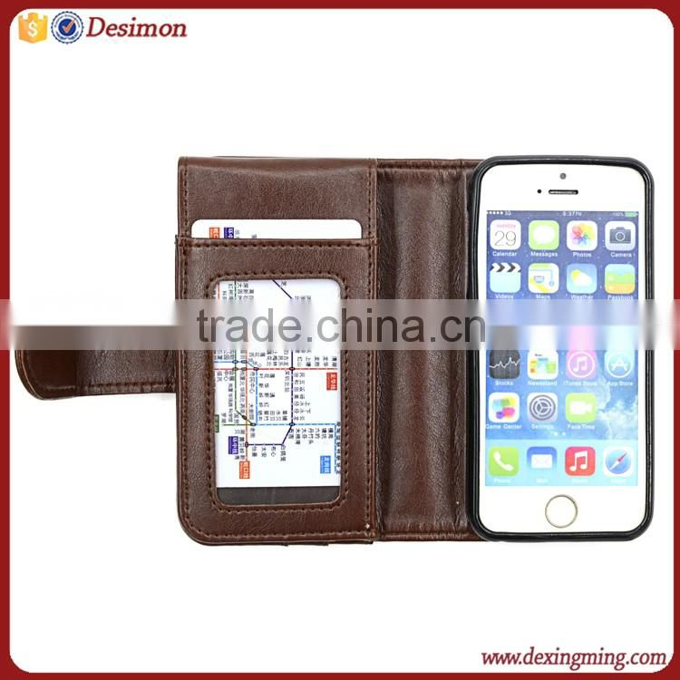 Wallet design cell phone case for iphone5 5c, for apple 5 back covers