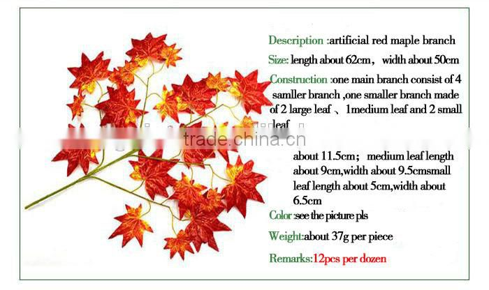 indoor/outdoor fake leaf factory director sale artificial maple tree leaf