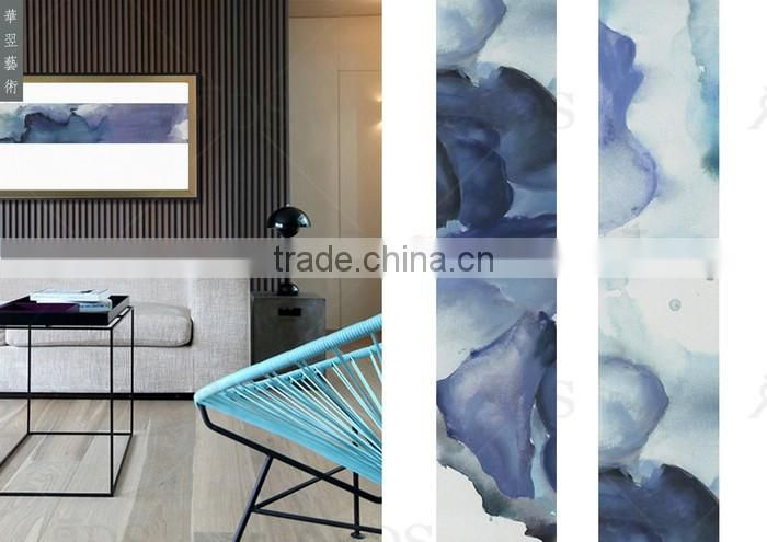 New Design Glass Group Painting Natural Scenery for Home Decoration