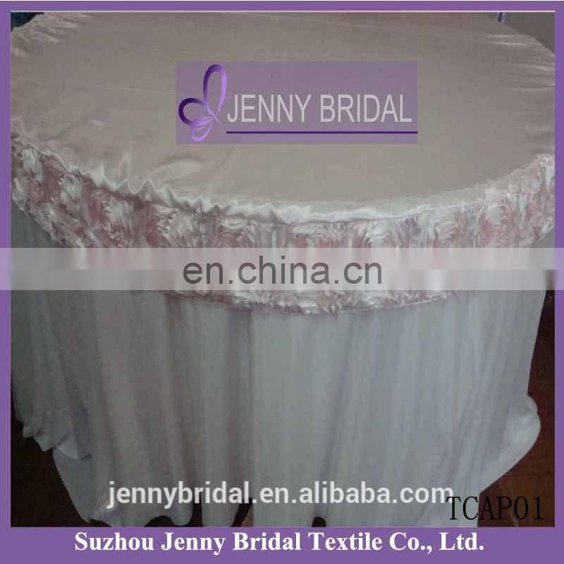TC031Z rosette satin table cloth new design table cloth purple table cloth