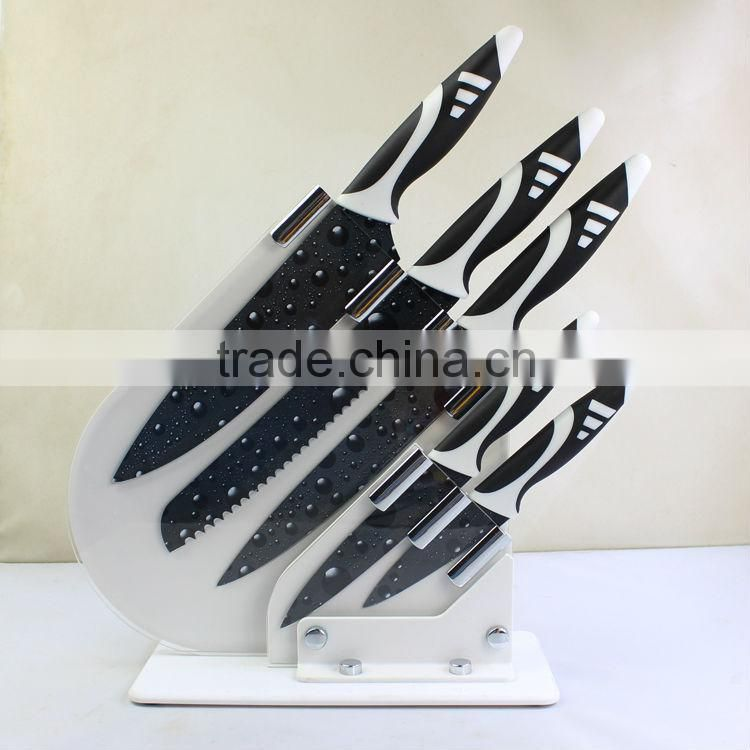 Eco-friendly promotion stainless steel fruit knife set