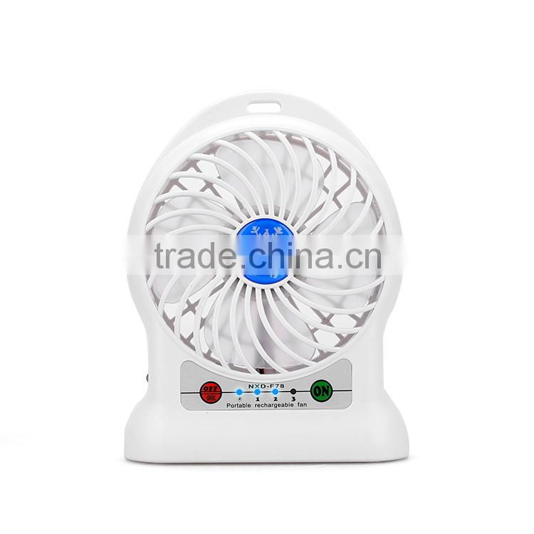 China Products Portable Mini Fan with Battery Charger External
