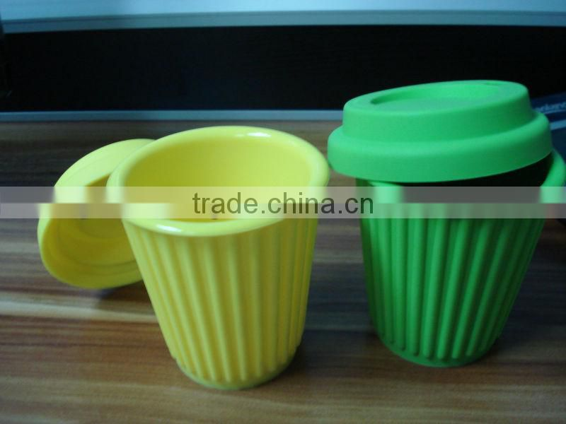 Candy color silicone coffee cup