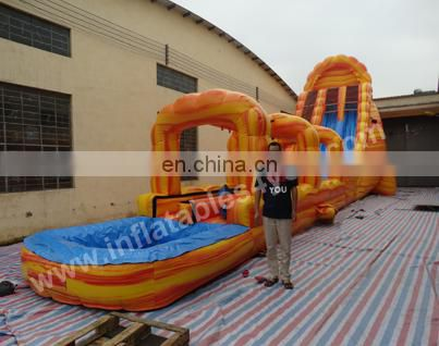 Hot sale Giant inflatable Water slip n Slide for events