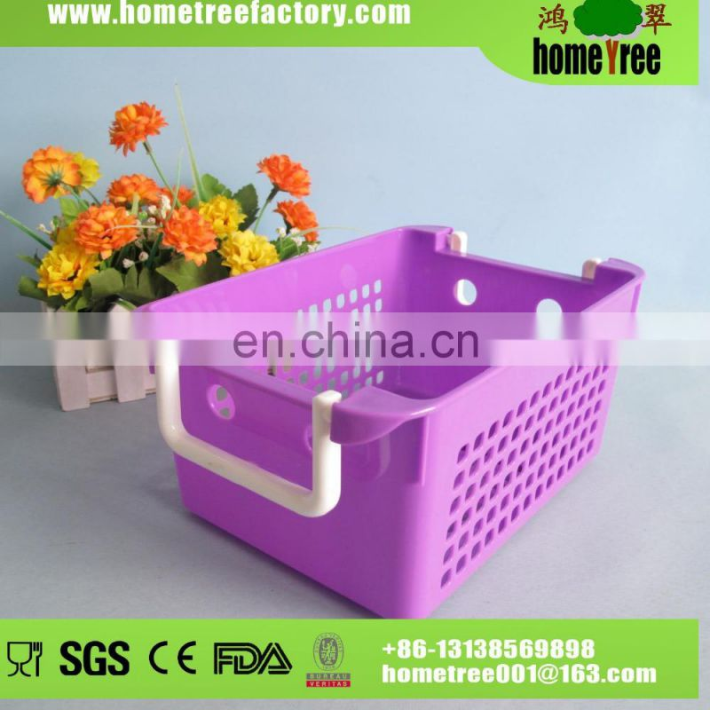 L Relief Portable Plastic Shopping Storage Basket With Lid Trade Assurance