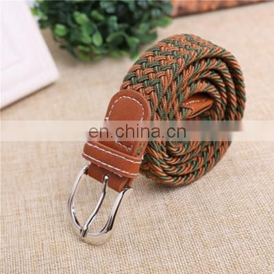 Fashionable Children's Multicolor braided belt for 5-15 years old
