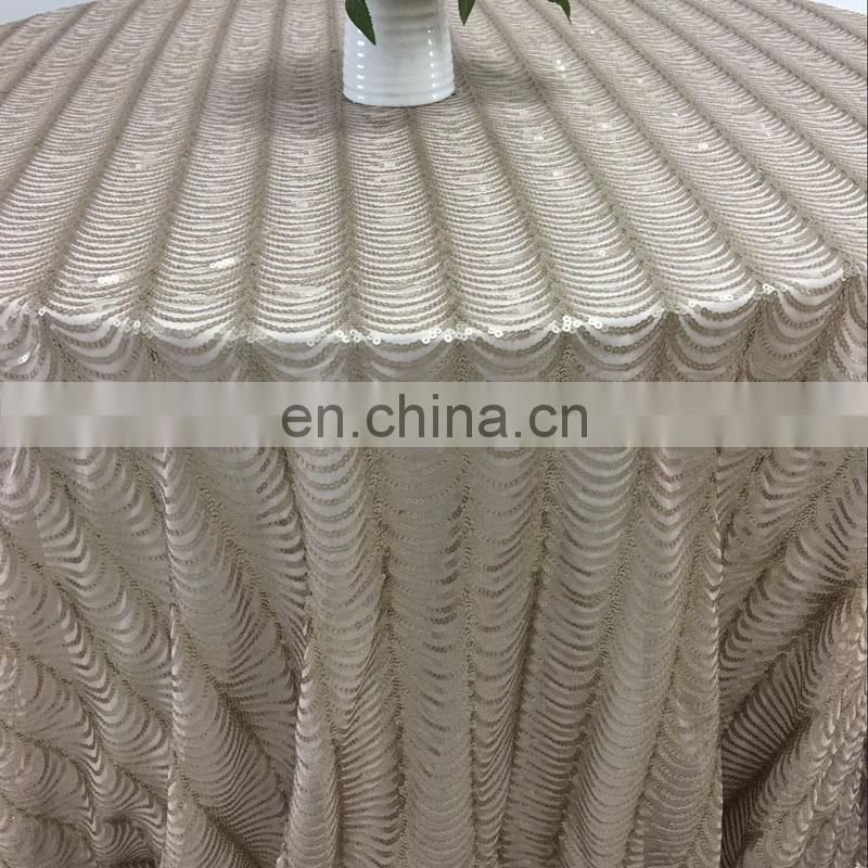 SQN#76 sequence table cloth christmas table cloth custom plastic table cover