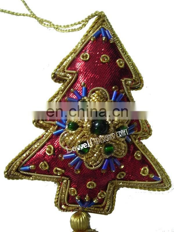 DECORATED ZARI DABCA CHRISTMAS HANGING TREE