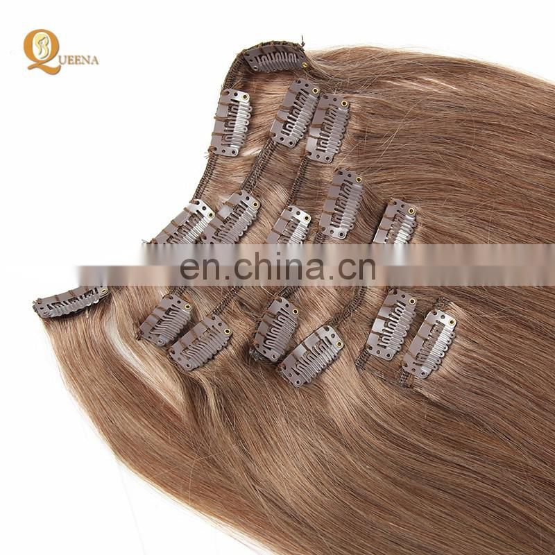 Hottest products on the market 100g 120g 160g 220g remy human hair extensions clip on