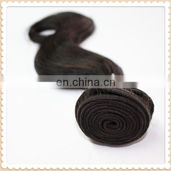xuchang tianrun 2014 new products wholesale body wave tangle free natural black virgin indian remy hair