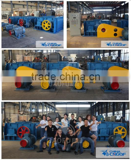 Low cost high capacity double roller crusher