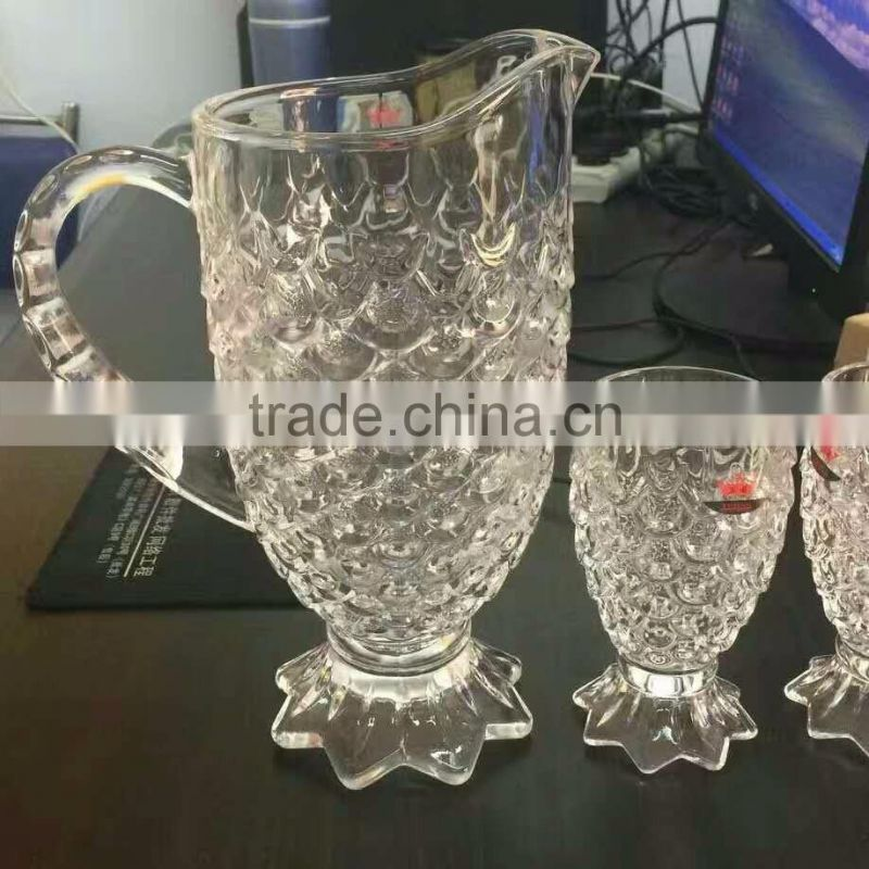 New Arrival Pakistan Market Factory Direct Glass Fish Mug Cup set Glass Beer Mug Wholesale