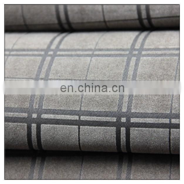 check design flame retardant textile industry twil 100 cotton fabirc flock printing fabric