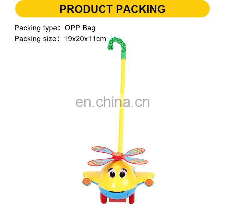hot sell 20cm baby toy plastic wheel hand push toy for children