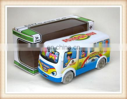 plastic electric musical flashing toy school bus