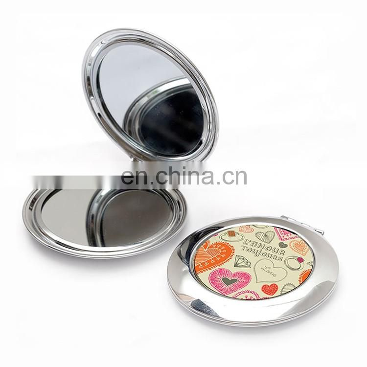Wholesale metal rose gold makeup mirror
