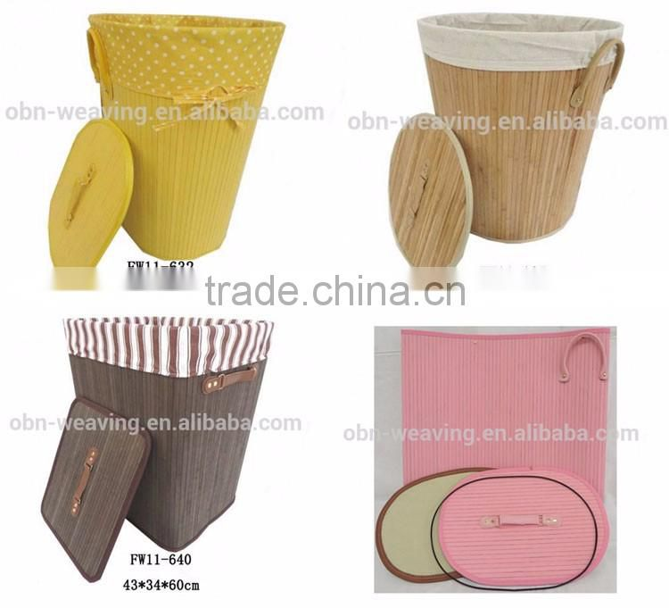 Bamboo laundry basket collapsible laundry basket dirty clothes storage