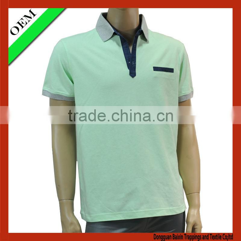 Pique polo t-shirt , cotton polo shirt men wholesale china