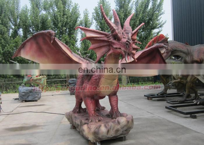 2015 Most Popular Artificial Red Dragon Statue For Sale