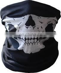 white mens camo skull face seamless mask bandanas headband for sale