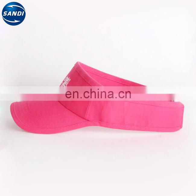 Prommotional custom sports adjustable sun visor