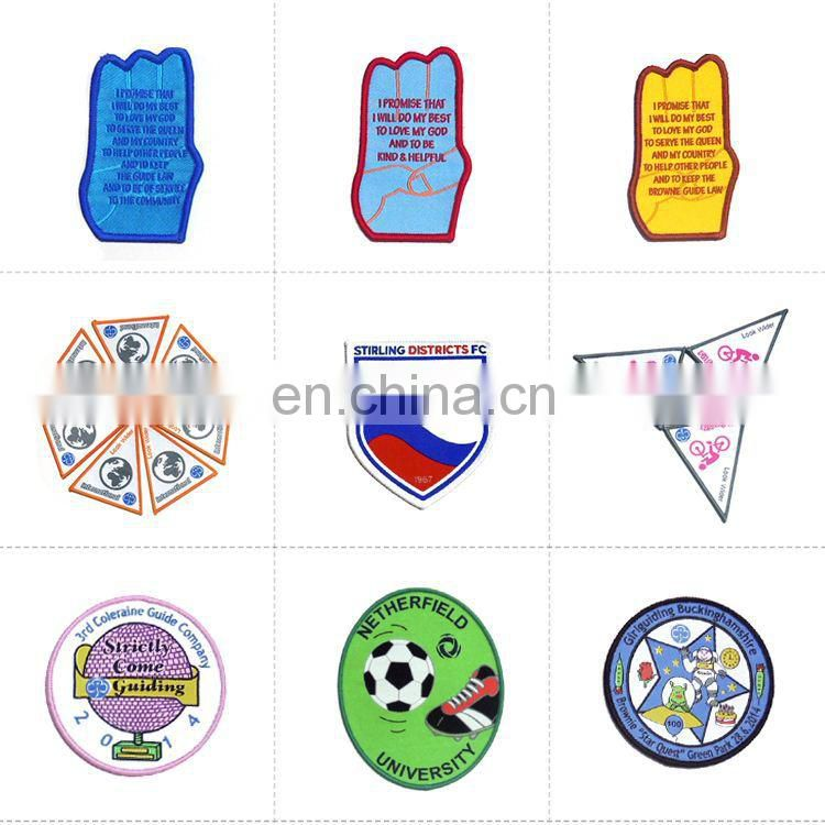 badge fabric woven patchs