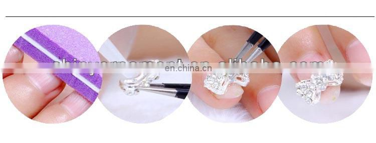 Metal alloy diamond drill nail stickers nail jewelry wholesale DIY decoration