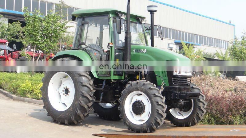 100hp 4wd farm tractor, gear drive hydraulic/cabin/air conditioner and tractor grader blade