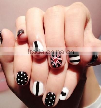 3 Ways Nail Art Pen/Nail Polish Pen/Nail Drawing Pen with nail polish & Glitter / Sticker