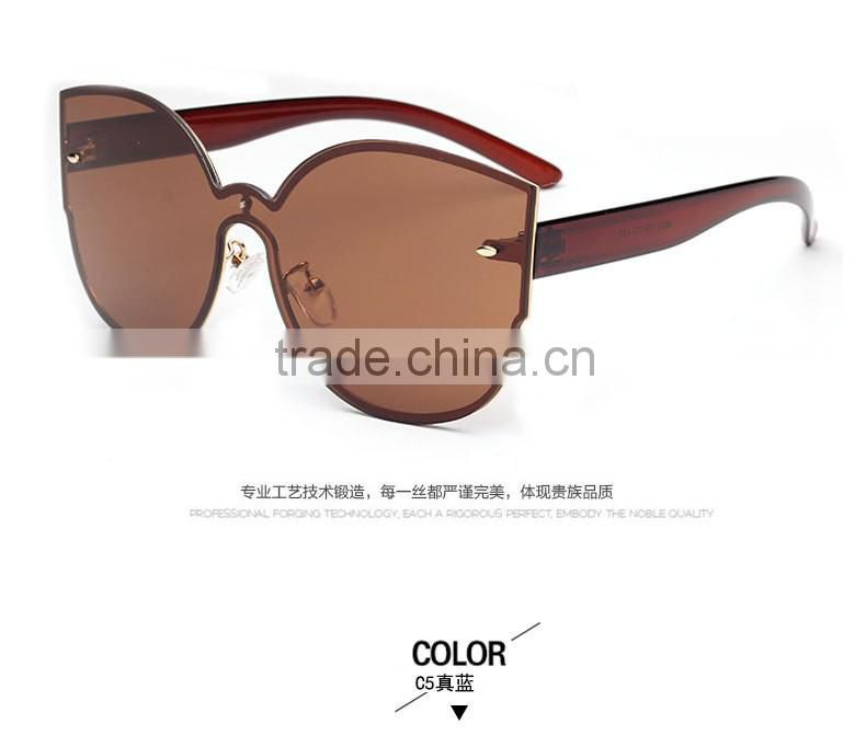 Tide brand of high-end color piece wholesale fashion sunglasses