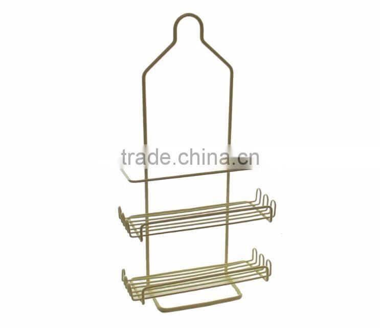 Home Two Tier Deluxe Shower Caddy Rack Organizer with Shelves