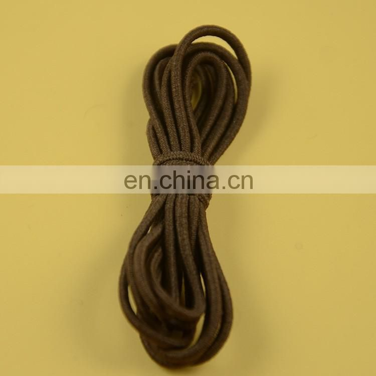 stock colored 4mm round elastic cord for garment