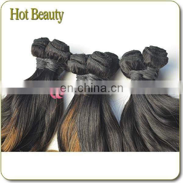7A Double Drawn Brazilian Princess Curl Two Tone Virgin Ombre Fumi Hair Extension