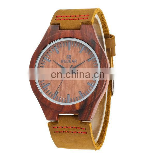 Wholesale China mens watch genuine leather watch japanese movement watch