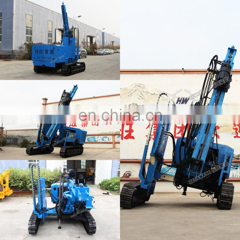 3 Meter Mini Crawler Spiral Drilling Rig Hydraulic Solar Static Pile Driving Machine Price For Sale