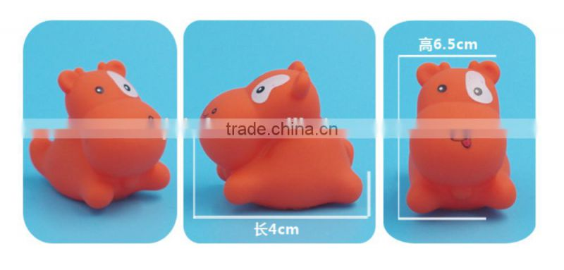 animal baby bath playing toys, Sea Animal Rubber Bath Toy, Eco friendly small bath toys