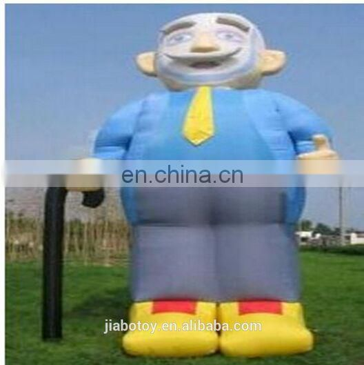 Inflatable Old Man(Inflatable Toy) Red and Yellow inflatable super man standing gingerbread man christmas
